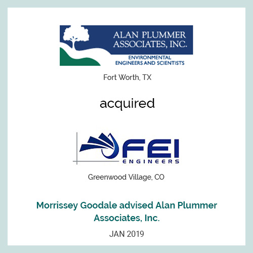 Alan Plummer Associates, Inc. acquired FEI Engineers