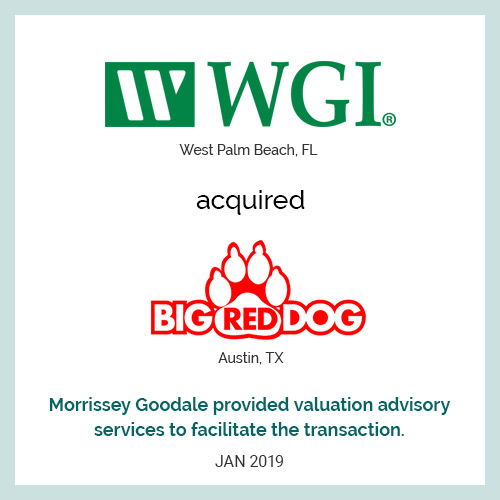 WGI acquired Big Red Dog