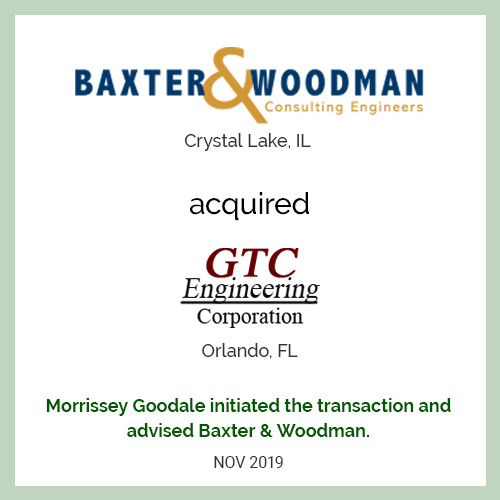 Baxter & Woodman acquired GTC Engineering Corporation
