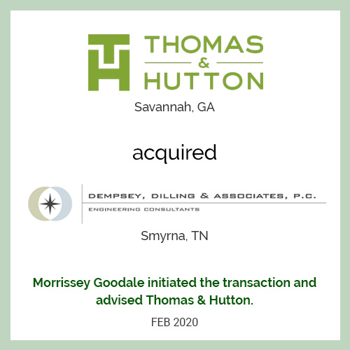 Thomas & Hutton acquired Dempsey, Dilling & Associates