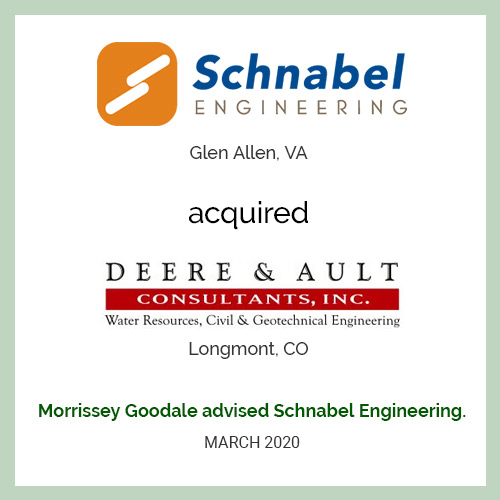Schnabel Engineering acquired Deere & Ault Consultants
