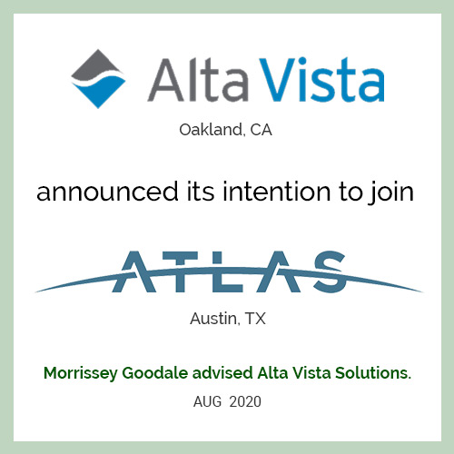 Alta Vista announced its intention to join ATLAS