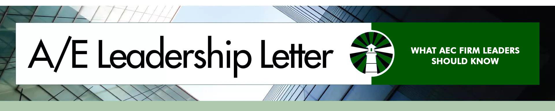 A/E Leadership Letter