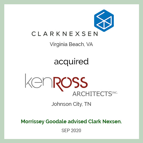 Clark Nexsen has acquired Ken Ross Architects Inc.