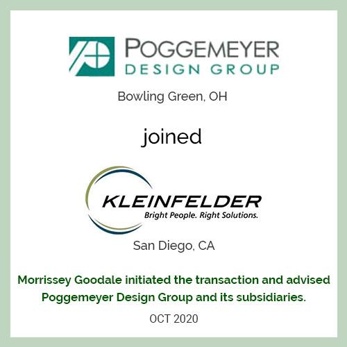 Poggemeyer Design Group joined Kleinfelder