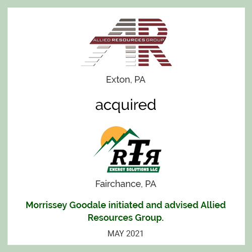 Allied Resources Group Acquired RTR Energy Solutions