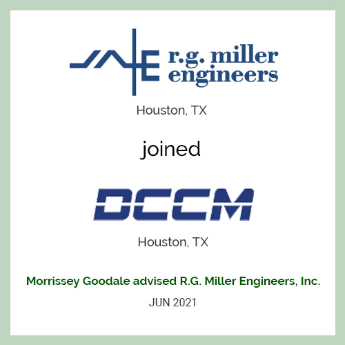 R.G. MILLER ENGINEERS, INC. JOINS DCCM