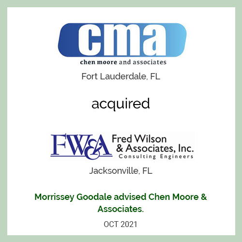 Chen Moore and Associates Acquires Fred Wilson & Associates