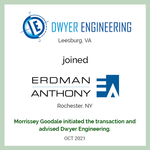 Dwyer Engineering Joined Erdman Anthony